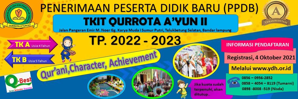PPDB PAUDIT Qurrota Ayun II Bandar Lampung